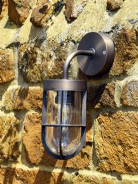 Fisherman- Brass Wall Light with Glass Diffuser 240 volt